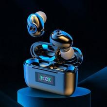 Tws bluetooth 5.1 fones de ouvido esportes à prova dwireless água sem fio display led gaming headset baixo estéreo alta fidelidade com microfone