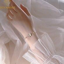 XIYANIKE-pulsera de mariposa con carcasa nueva para mujer, de Plata de Ley 925, diseño único ligero de lujo, regalo de pareja Sexy coreana hecho a mano