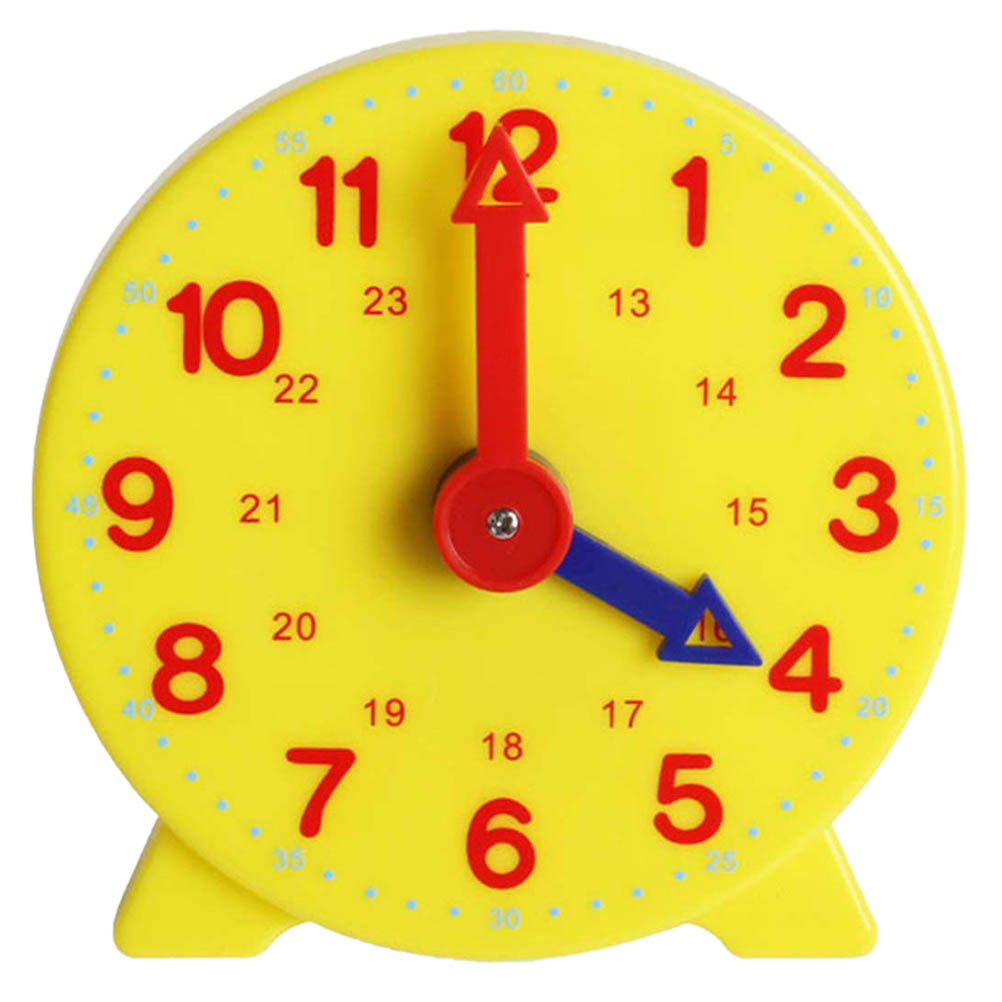 10cm Children'S Education Alarm Clock Adjustable 24 Hours Time Learning Clock Early Education Clock Model Teaching Tool Number