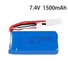 Batterij Voor FT009 FX067C HQ955 948 K959 HJ817 816 Rc Speed Boot Onderdelen 12428 Auto 7.4 V 1500 Mah 903462 Batterij