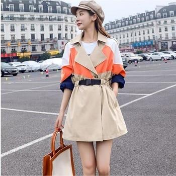 2020 autumn winter Korean version of the long windbreaker jacket female new casual popular loose student jacket