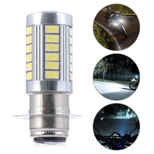Ampoule de phare de moto Led, lumière de moto 33smd, phare blanc H6 BA20D, accessoires de moto