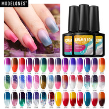 Modelones 10 мл термо Гель-лак для ногтей изменение цветовой температуры УФ-гель для ногтей термальный УФ Гель-лак для Ногтей Стойкий гель