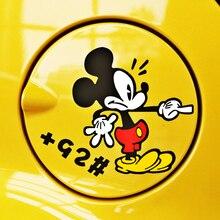 Aliauto забавные аксессуары для автомобиля наконечники масляного типа мультфильм милый Микки Маус автомобиля Наклейка для Nissan Smart Mazda renault, hyundai