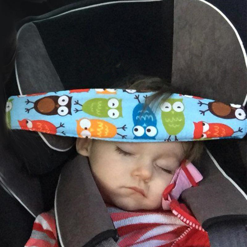 Adeeing Car Safety Seat Sleep Positioner Infants Baby Head Support Pram Stroller Fastening Belt Adjustable Sleep Belt image