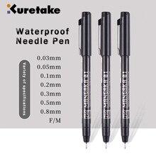 Kuretake Needle Pen Hook Line Waterproof 003/005/01/02/03/05/08/F/M Sketch Cartoon Drawing Architectural Design Stroke Line Pens