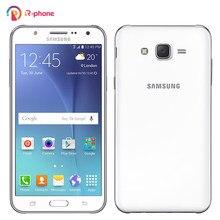Original samsung galaxy j7 j700f remodelado lte 4g desbloqueado telefone móvel duplo sim 5.5
