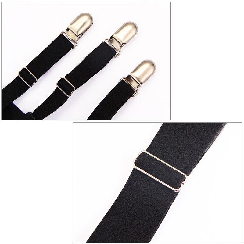 2 Pcs Men Shirt Stays Belt With Non-slip Locking Clips Keep Shirt Tucked Leg Thigh Suspender Garters Strap C66