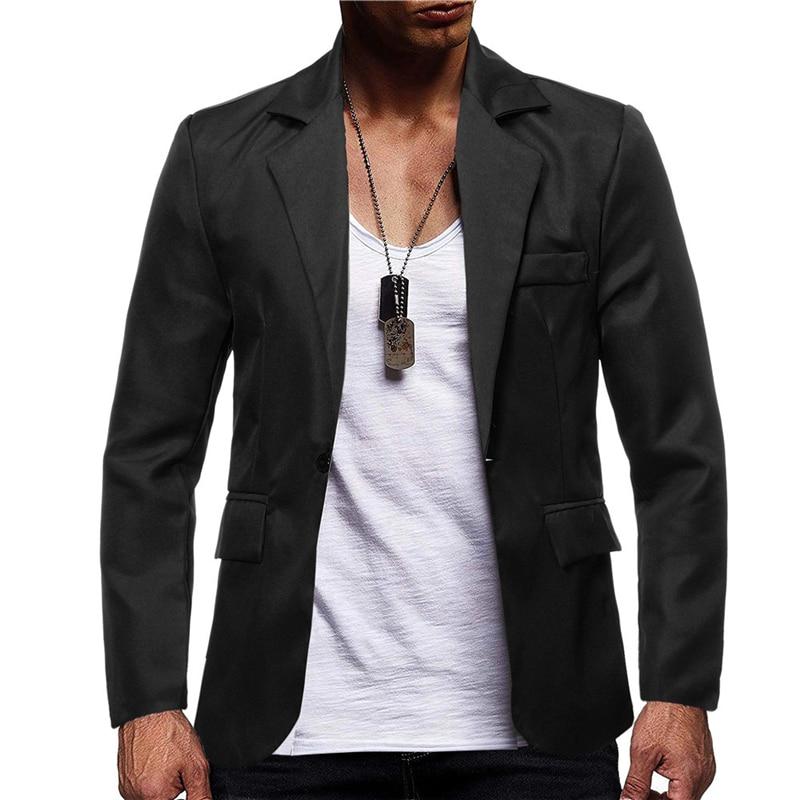 OLOME fashion design Slim Fit blazer men Autumn Winter Jacket Coat Formal Masculina Blazer Men's Business solid Blazers