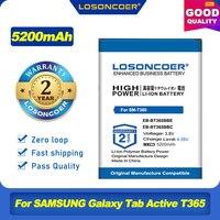 100% Original LOSONCOER EB-BT365BBE EB-BT365BBC EB-BT365BBU 5200mAh batería para SAMSUNG Galaxy Tab Active T365 T360 SM-T360