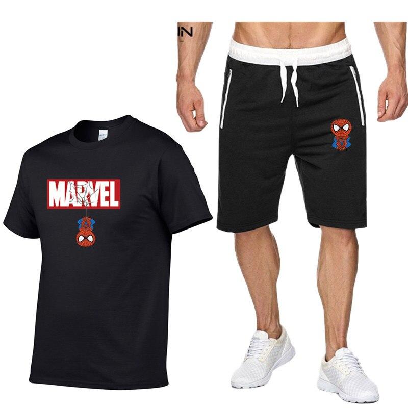 Spiderman Brand Casual Clothing Set Sport Suit Men Fashion Hot Sale Spider Man Superhero Costume Marvel Men's Fitness Tracksuit