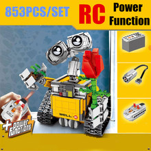 цены на New MOC RC Motor Power Function Fit Legoings Technic WALL E 21303 Robot Figures Model Building Block Bricks Diy Toy Gift Kid Boy  в интернет-магазинах