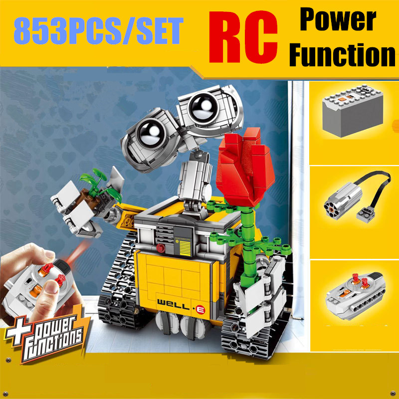 New MOC RC Motor Power Function Fit <font><b>Legoings</b></font> Technic WALL E <font><b>21303</b></font> Robot Figures Model Building Block Bricks Diy Toy Gift Kid Boy image