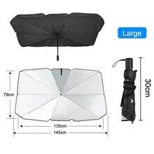 Foldable Car Sun Umbrella Interior Windshield Sunshade Cover Front Window UV Protection Shade Curtain Parasol Car Accessories