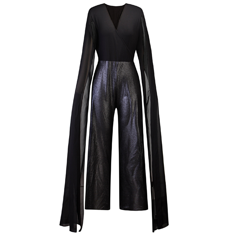 Halloween Costumes For Women 2019 Autumn Long Sleeve 5XL Plus Size   Rompers   Overalls   Romper   Playsuits Black Gothic Punk Jumpsuit