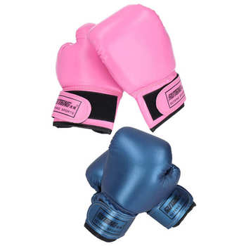 2 sztuk dzieci rękawice bokserskie PU skórzane szkolenia walki Sparring wykrawania Kick rękawice bokserskie Taekwondo wykrawania dzieci rękawiczki tanie i dobre opinie suteng Dziecko CN (pochodzenie) Boxing Gloves Other PU Leather