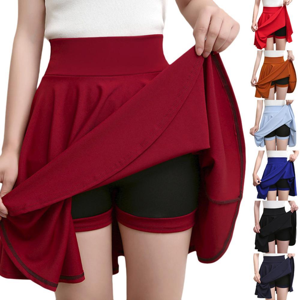 2020 New Hot Wild Skirt For Women Fashion High Waist Sexy Solid Mini Pencil Skirt Hip Slim Sexy Short Mini Skirt jupe femme SS3M
