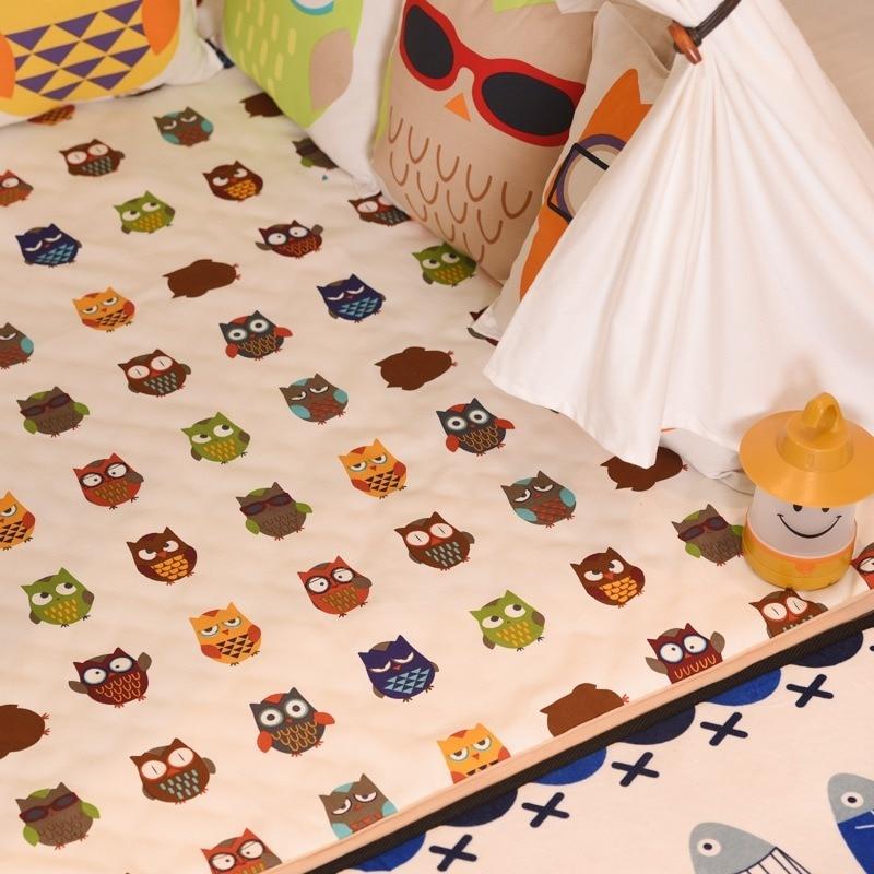 Tapis de tente pour enfants d'intérieur tapis rond de soin de bébé tapis carré tapis de maison de jouet rampant de bébé tapis de coton éducatif doux