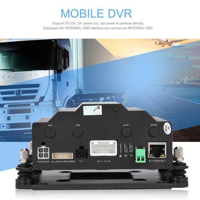 H40 4 canales Full D1 HDD móvil DVR Digital Video registro en tiempo Real autobús escolar móvil DVR negro para camión/autobús/Taxi