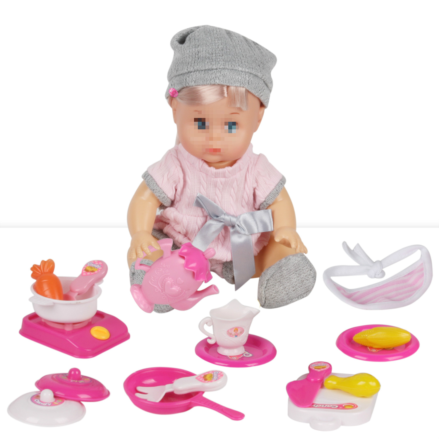 Huang Cheng Toys Doll and Parts with Clothes for 12 Inch Kitchen Appliances Play Doctor Baby Girl Gifts Kid