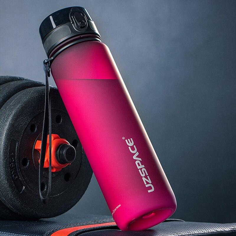 UZSPACE Water Bottle High cost performance Portable Leak-proof Outdoor Tour Sport shaker Drink Tritan Plastic Bottle 500/1000ml
