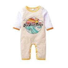 Летние детские комбинезоны с мультяшными буквами одежда для