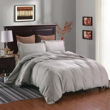 Bed Pillowcase Bedding-Set Duvet-Cover-Set Queen Stripe Gray/black with Adults CN Twin