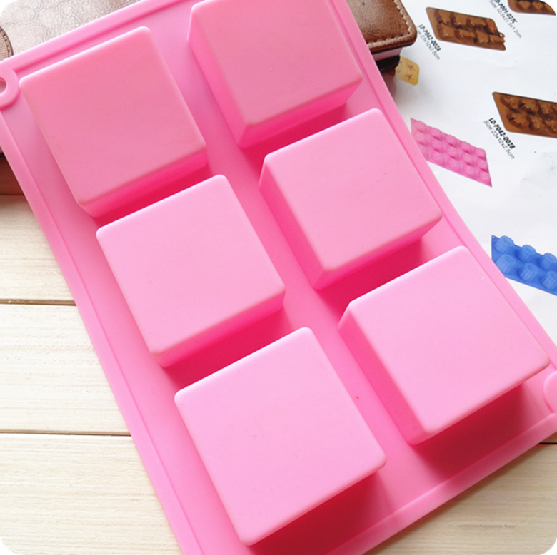Customizable All Types Of Silicone Cake Mold Mould Square Quadrel 5*5*2.5 Cm Handmade Soap Cold Process Soap Mode