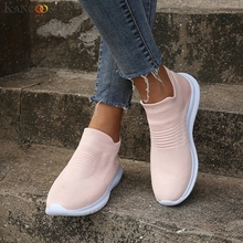 Женская спортивная обувь нескользящая Сетка дышащая мягкое дно обувь носки скольжения прокладочным легкий дамы открытый кроссовки