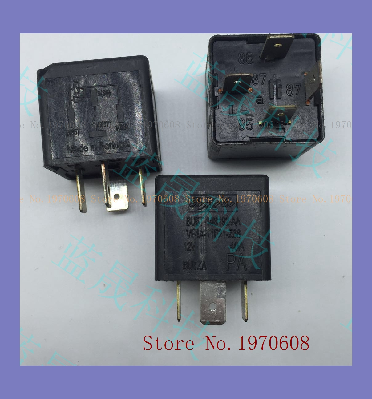 2pcs new   BU5T-14B192-AA VF4A-11F21-Z66 12V Ford Relay