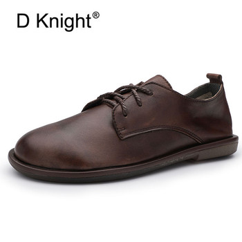 D Knight Women's Shoes Soft Genuine Leather Flats Oxfords New Fashion Casual Woman Driving Loafers Moccasins Shoes Large Size 40