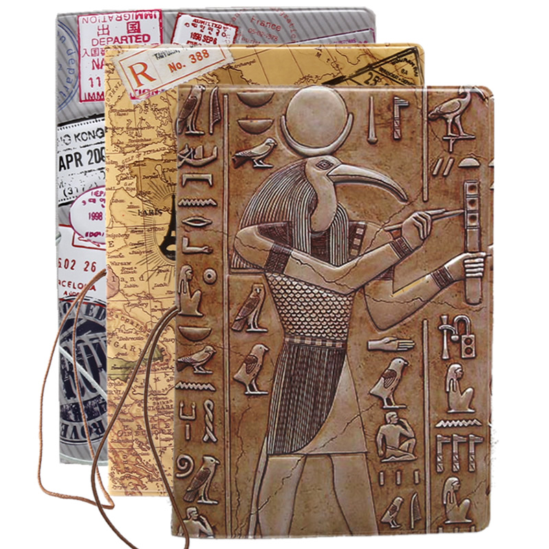 Cartoon Animal Bird Passport Cover Travel Accessories ID Address Holder Portable Boarding PU Leather Creative Women Wallet Bag
