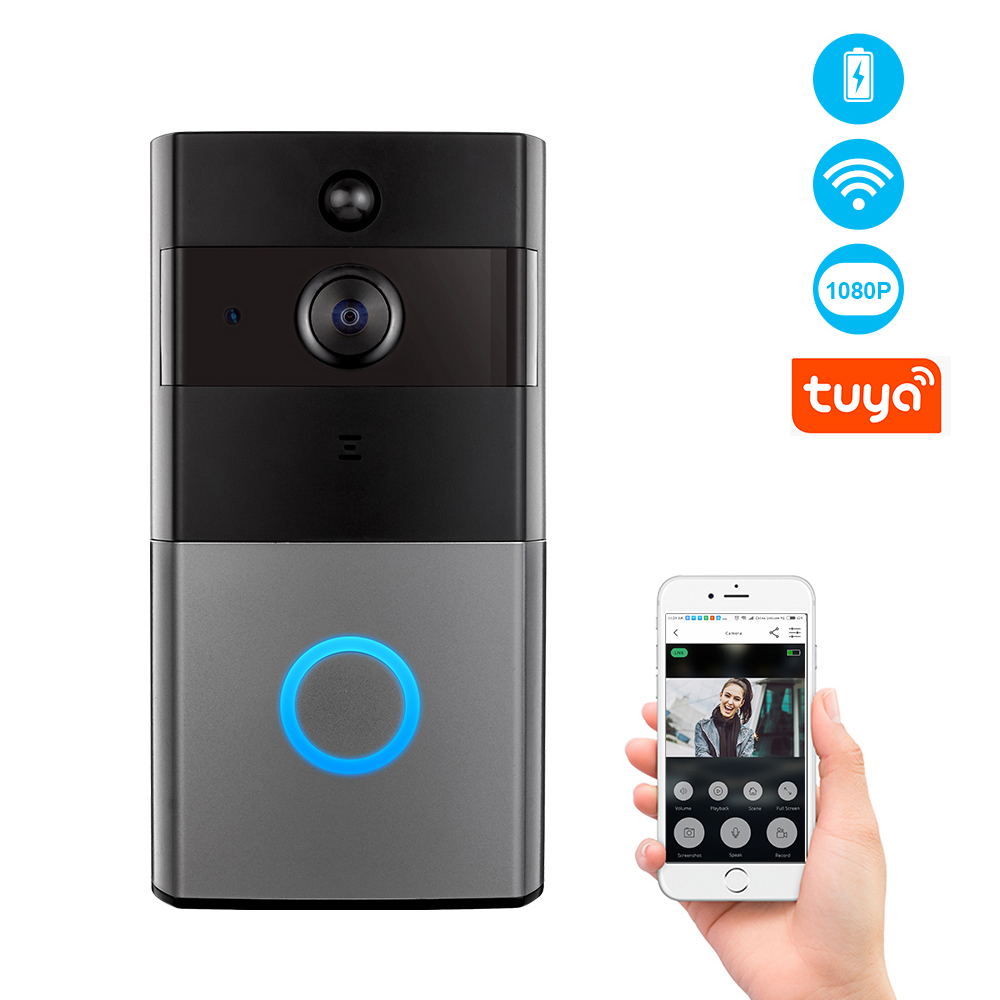 Wireless WiFi Video Intercom Doorbell 2MP 1080P Phone Call Door Bell Home Security Night Vision Camera Tuya App Control