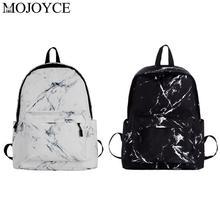 Unisex Marble Print Backpack Preppy Style Teenagers Bags Canvas Women Men Marbling Backpacks Rucksack School Bag Fashion стоимость