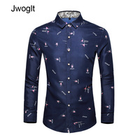 45KG 120KG Autumn Fashion Casual Print Shirt Men Long Sleeve Button Tops Men White Shirt 5XL 6XL 7XL