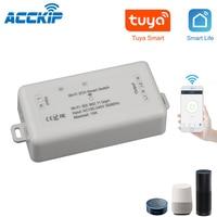 Acckip 2 way wifi interruptor de luz inteligente tuya app controle remoto sem fio voz funciona com alexa google 2 canais ciruit disjuntor|Kits autom. res.| |  -