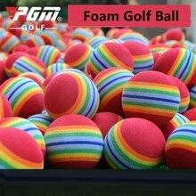 1 шт. радужные полосочные поролоновые губки для гольфа эластичные поролоновые губки для гольфа резиновые шарики тренировочные учебные принадлежности цвет случайным образом