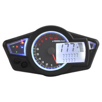Universal Motorcycle 15000RPM Digital LCD Odometer Speedometer Tachometer Instruments with Speed Sensor Motocicleta