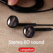 Langsdom Type C Super bass Earphone V6T Stereo in ear Earphones USB 3.5mm gaming headset E6U with Microphones for Type c Phones