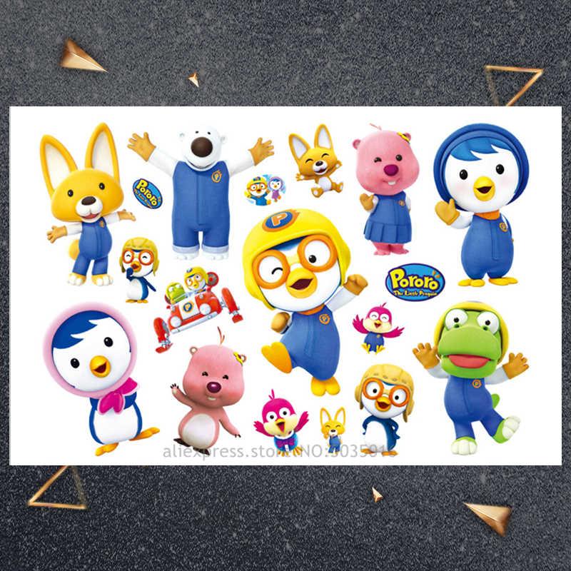 Hasbro Kleine Pinguïn sticker Kinderen Cartoon Tijdelijke Tattoo Sticker Voor Jongens Cartoon Speelgoed Waterdicht Party Kids Gift