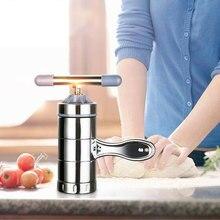 Ручной прибор для лапши и пасты из нержавеющей стали, пресс для спагетти, кухонный инструмент, машина для бытовой ручной пасты