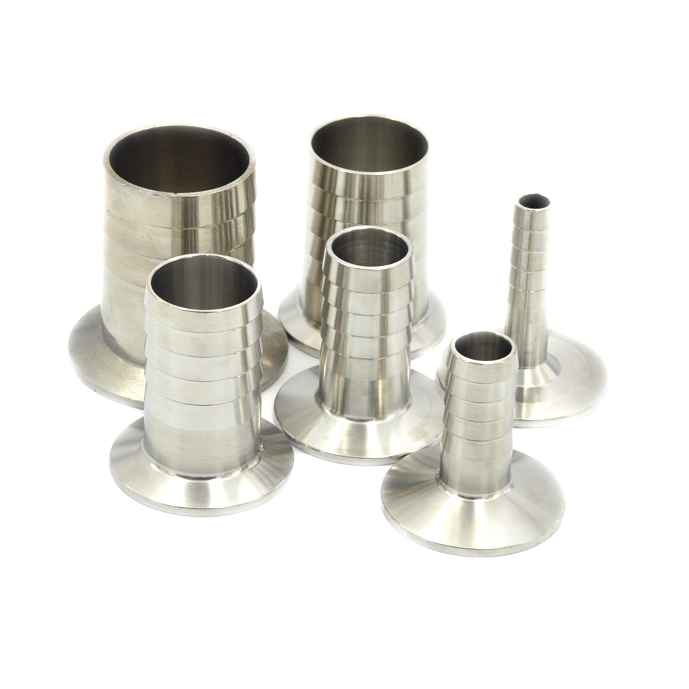 Sanitary Hose Barb Pipe Fitting Tri Clamp Type Ferrule Stainless Steel SUS SS 304