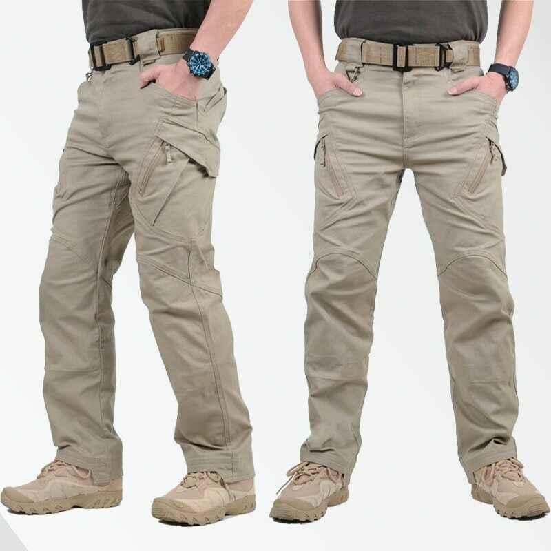 IX9 Stad Militaire Tactische Broek Mannen Swat Combat Broek Casual Mannen Hikling Broek Pantalones Hombre Cargo Waterdichte Broek