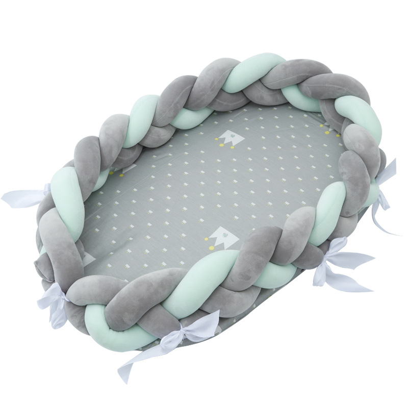 Bionic Baby Bed Woven Infant Bed Playpens  Portable Soft And Breathable Newborn Multifucntiomal