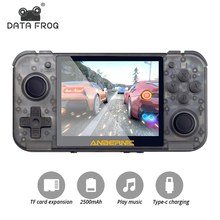 Data Frog RG350 3.5 Inch IPS Screen Retro Games Dual Core 16G+128G TF Arcade Game Player RG 350 PS1 Portable Game Console