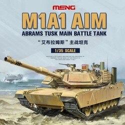 Meng TS-032 1/35 U.S. Army M1A1 Aim Abrams Tusk Main Battle Tank Static Assembly Tank Model Kit Hobby Building Kits DIY