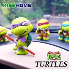4 pcs/set Teenage Mutant Ninja Turtles Car Figure Ornament Cute Plastic Doll Automobiles Interior Model Decoration Birthday Gift цена