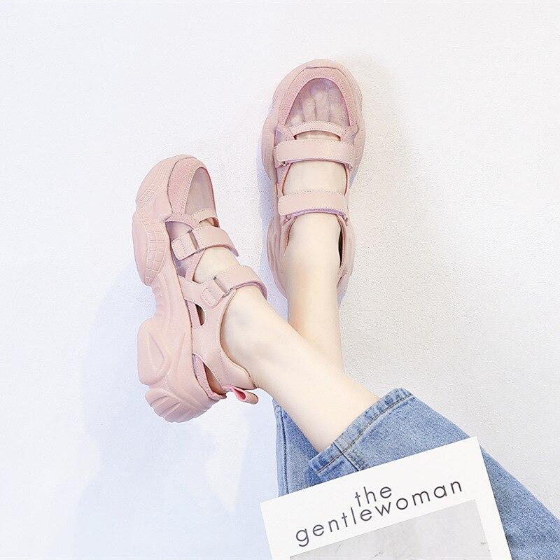 Women's Baotou Sandals Women 2020 Platform Shoes Fashion Baotou Sandals Mesh Breathable Wear-resistant Women's Shoes BG-43