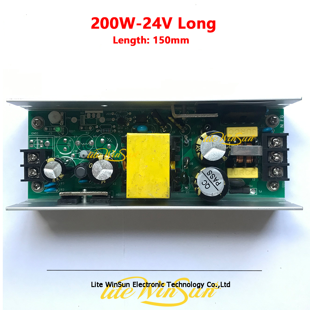200W 24V Power Supply Board Long Type Switch Power Board for LED Stage Light|Stage Lighting Effect|   - title=