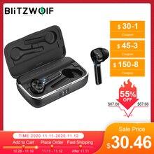 BlitzWolf FYE6 Lange Handvat bluetooth 5.0 TWS Echte Draadloze Oortelefoon Grafeen Digitale Display Bilaterale Call Hoofdtelefoon Headset